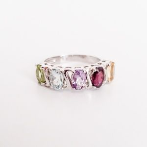 Jewelry - Sterling Silver multi color gemstone ring